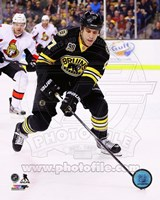 Milan Lucic On Hockey Ice Fine Art Print
