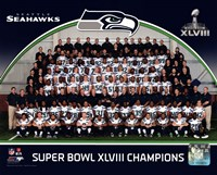 Seattle Seahawks Team Photo Super Bowl XLVIII Champions Fine Art Print