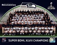 Seattle Seahawks Team Photo Super Bowl XLVIII Champions Framed Print