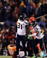 Kam Chancellor & Earl Thomas Celebrate Chacellor's Interception Super Bowl XLVIII Fine Art Print