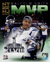 Malcolm Smith Super Bowl XLVIII MVP Portrait Plus Fine Art Print