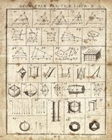 Geometric Chart II Framed Print