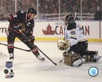 Jonathan Toews 2014 NHL Stadium Series Action Fine Art Print