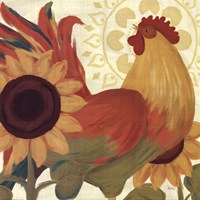 """Spice Roosters II by Veronique Charron - 12"""" x 12"""", FulcrumGallery.com brand"""