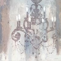 Candelabra Teal II Fine Art Print