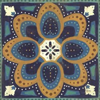 Proud as a Peacock Tile I Fine Art Print