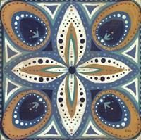 Proud as a Peacock Tile II Fine Art Print