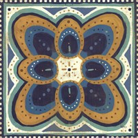 Proud as a Peacock Tile III Fine Art Print