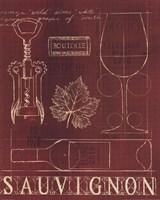 Wine Blueprint IV v Framed Print
