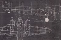 Plane Blueprint I Fine Art Print