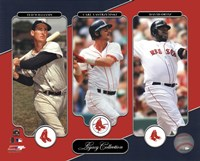Ted Williams, Carl Yastrzemski, David Ortiz Legacy Collection Fine Art Print
