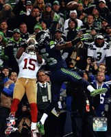 Richard Sherman pass deflection 2013 NFC Championship Game Fine Art Print