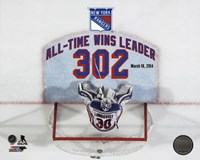 Henrik Lundqvist New York Rangers All-Time Wins Leader 302 Wins Overlay Fine Art Print