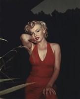 Marilyn Monroe 1954 Red Dress Fine Art Print