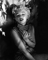 Marilyn Monroe 1954 Striped Dress Framed Print
