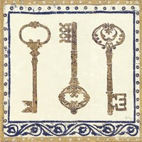 Regal Keys Indigo and Cream Fine Art Print