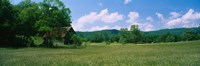 "Barn in a field, Cades Cove, Great Smoky Mountains National Park, Tennessee, USA by Panoramic Images - 27"" x 9"""