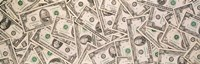 "Close-up of a pile of US Dollar bills by Panoramic Images - 28"" x 9"""