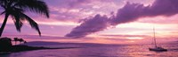 "Sunset Kapala Bay Maui HI USA by Panoramic Images - 28"" x 9"""