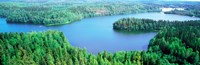 """Lakes & forest aerial view Aulanko National Park Finland by Panoramic Images - 28"""" x 9"""""""