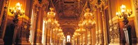 """Interior Opera Paris France by Panoramic Images - 28"""" x 9"""""""