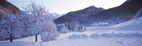 """Winter in Ramsau Germany by Panoramic Images - 28"""" x 9"""""""