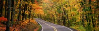 "Route 41 Keweenaw Peninsula nr Copper Harbor MI USA by Panoramic Images - 28"" x 9"" - $28.99"