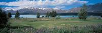 """Tekapo Lake South Island New Zealand by Panoramic Images - 27"""" x 9"""" - $28.99"""