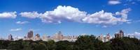 """Trees with row of buildings, Central Park, Manhattan, New York City, New York State, USA by Panoramic Images - 25"""" x 9"""""""