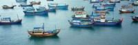 """Fishing boats, Mui Ne, Vietnam by Panoramic Images - 28"""" x 9"""", FulcrumGallery.com brand"""