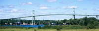 """Suspension bridge across a river, Thousand Islands Bridge, St. Lawrence River, New York State, USA by Panoramic Images - 28"""" x 9"""""""