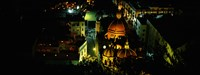 "High angle view of buildings lit up at night, Guanajuato, Mexico by Panoramic Images - 24"" x 9"""