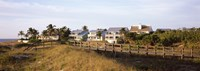 """Houses on the beach, Gasparilla Island, Florida, USA by Panoramic Images - 25"""" x 9"""", FulcrumGallery.com brand"""