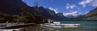 """St. Mary Lake, US Glacier National Park, Montana by Panoramic Images - 28"""" x 9"""""""