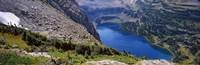 "High angle view of a lake, Hidden Lake, US Glacier National Park, Montana, USA by Panoramic Images - 28"" x 9"""