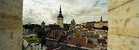"High Angle view of Houses in a town, Tallinn, Estonia by Panoramic Images - 25"" x 9"""