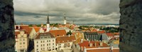 "Houses in a town, Tallinn, Estonia by Panoramic Images - 25"" x 9"""