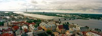 "High angle view of a city, Riga, Latvia by Panoramic Images - 25"" x 9"""