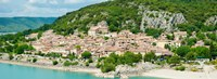 """Village on the Lake of Sainte-Croix, France by Panoramic Images - 25"""" x 9"""""""