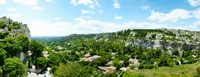 """High angle view of limestone hills with houses, Les Baux-de-Provence, Bouches-Du-Rhone, Provence-Alpes-Cote d'Azur, France by Panoramic Images - 23"""" x 9"""", FulcrumGallery.com brand"""