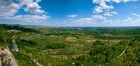 Valley with Olive Trees and Limestone Hills, Les Baux-de-Provence, Bouches-Du-Rhone, Provence-Alpes-Cote d'Azur, France Fine Art Print