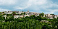 """Town on a hill, Sault, Vaucluse, Provence-Alpes-Cote d'Azur, France by Panoramic Images - 18"""" x 9"""""""