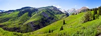 "On Slate River Road looking at Mt Owen and Purple Mountain, Crested Butte, Gunnison County, Colorado, USA by Panoramic Images - 24"" x 9"""