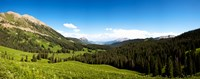 """From Washington Gulch Road looking southeast towards, Crested Butte, Gunnison County, Colorado, USA by Panoramic Images - 23"""" x 9"""""""