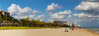 """Tourists on the beach, Lauderdale, Florida by Panoramic Images - 25"""" x 9"""""""