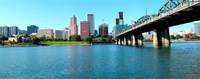 """Willamette River, Portland, Multnomah County, Oregon by Panoramic Images - 23"""" x 9"""""""