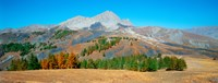"""Champs pass in autumn, French Riviera, Provence-Alpes-Cote d'Azur, France by Panoramic Images - 24"""" x 9"""""""