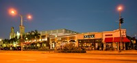 """Night scene of Downtown Culver City, Culver City, Los Angeles County, California, USA by Panoramic Images - 19"""" x 9"""", FulcrumGallery.com brand"""