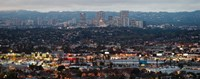 """Century City, Culver City, Los Angeles County, California by Panoramic Images - 23"""" x 9"""""""