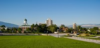 Lawn with Salt Lake City Council Hall in the background, Capitol Hill, Salt Lake City, Utah, USA Fine Art Print